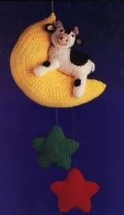 скачать бесплатно схему и описание игрушки мобиль корова на луне