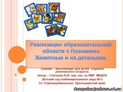 презентация звери и детеныши
