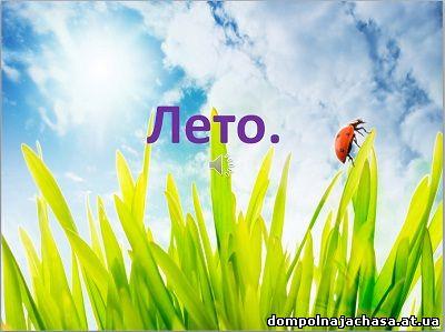 презентация Что такое лето