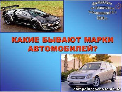 презентация марки автомобилей