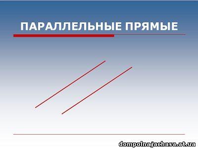 презентация Параллельные прямые