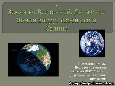 презентация вращение Земли