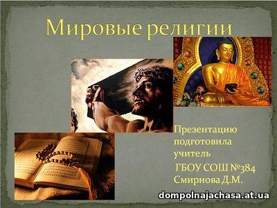 презентация Мировые религии