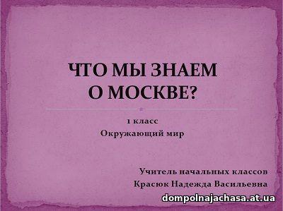 презентация Что мы знаем о Москве?