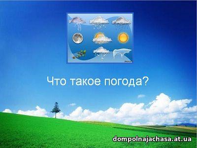 презентация Что такое погода?