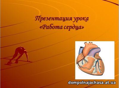 презентация Работа сердца