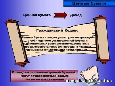 презентация Ценные бумаги