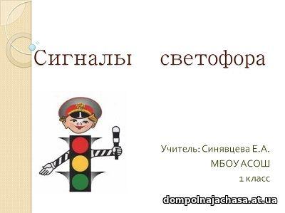 презентация Сигналы светофора