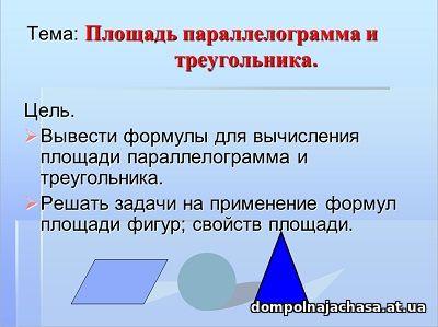презентация Площадь параллелограмма