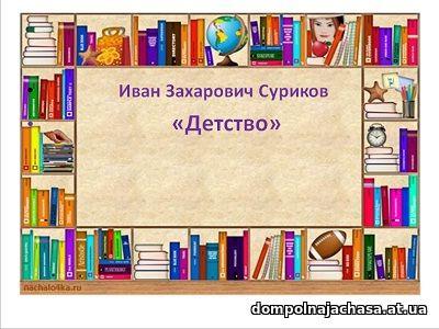 презентация Суриков Детство