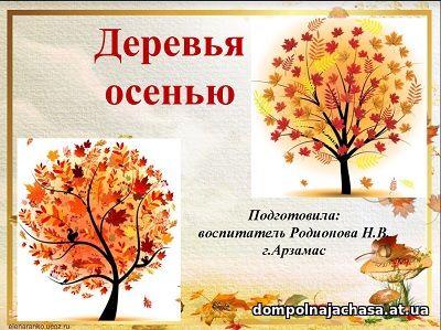 презентация Деревья осень