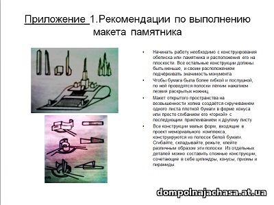 презентация Образец памятника
