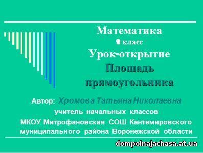 презентация Площадь прямоугольника