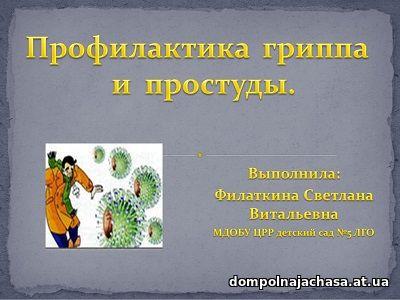 презентация Профилактика гриппа