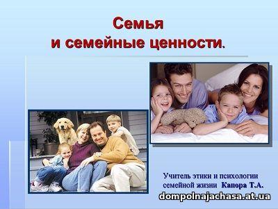 презентация Семья